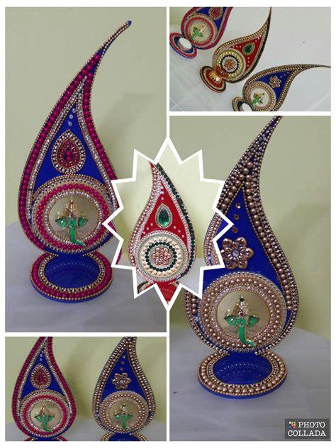 acrylic diya stand  images diwali craft diwali