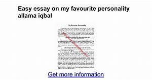 Essay of allama iqbal in english