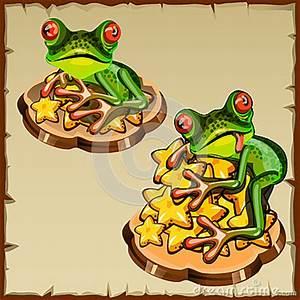 Feng Shui Frosch : frosch zwei auf einem stapel von goldenen sternen fengshui vektor abbildung bild 64323267 ~ Sanjose-hotels-ca.com Haus und Dekorationen