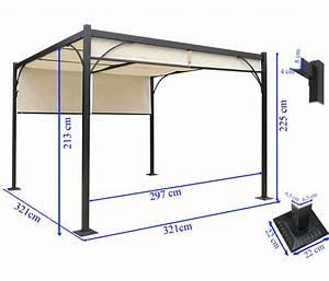 Pavillon 3 5x3 5 : pergola granada pavillon stabiles 6cm alu gestell schiebedach 3x3m kaufen bei mendler ~ Frokenaadalensverden.com Haus und Dekorationen