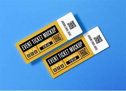 Ticket Concert Paper Psd Mockup Event Mockups