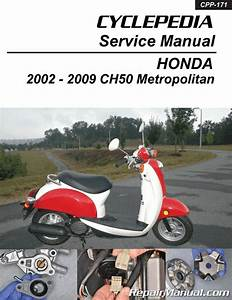Chf50 Metropolitan Honda Scooter Service Manual Printed By