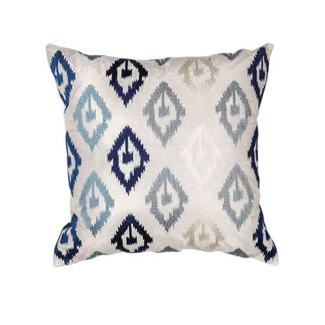 Navy Decorative Pillows by Kas Rugs Scape Navy Grey Decorative Pillow