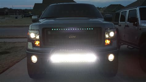 led lightbar  grill  page  ford
