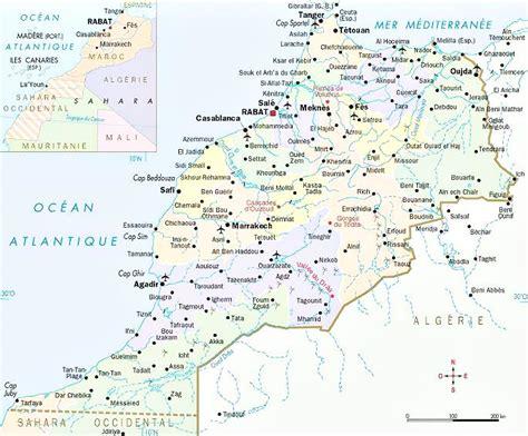 Carte Du Maroc Avec Les Principales Villes by Carte Du Maroc Images 187 Vacances Arts Guides Voyages