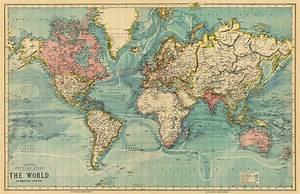 Best Photos of Vintage World Map