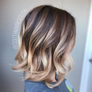 Balayage Ombré Blond : 15 blonde balayage looks for brunettes hairstyle guru ~ Carolinahurricanesstore.com Idées de Décoration