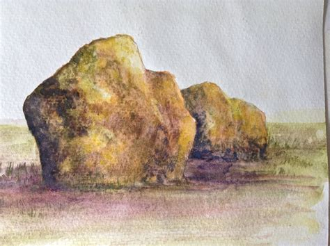 how to paint a l realistic rocks watercolor tutorial how to paint step by