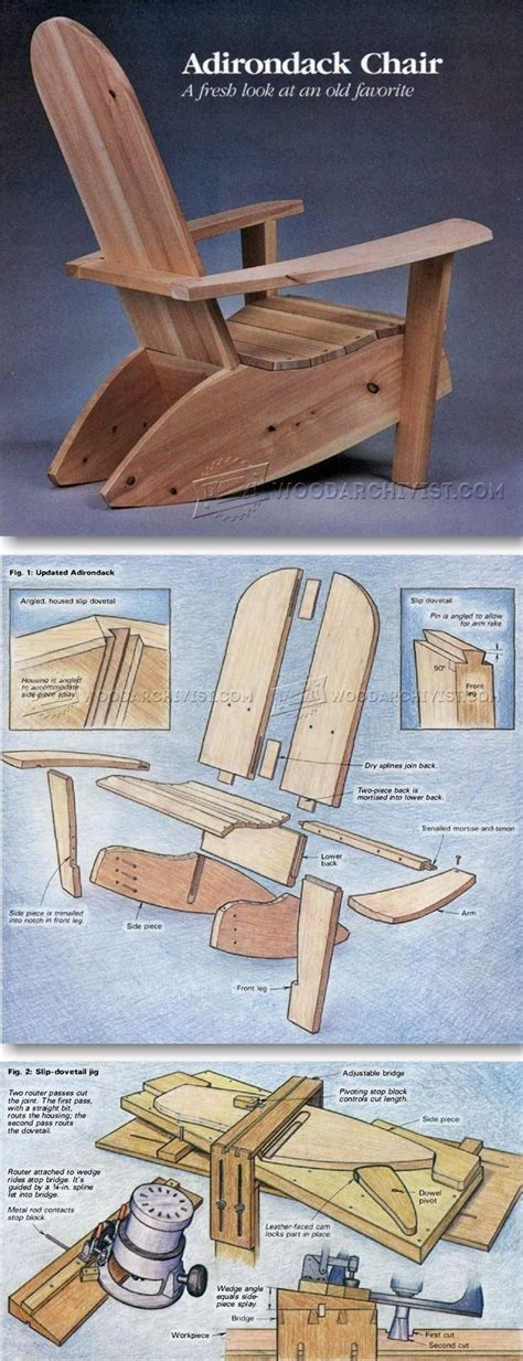build adirondack chairs woodworking furniture plans