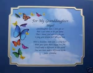 Happy Birthday Granddaughter Poems