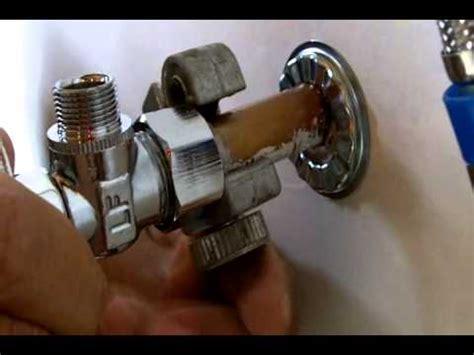 install  water shut  valve  beginners youtube