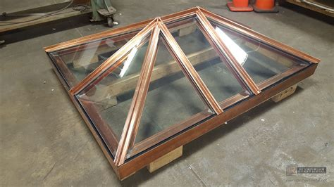 Custom skylight in copper made to customer's specifications