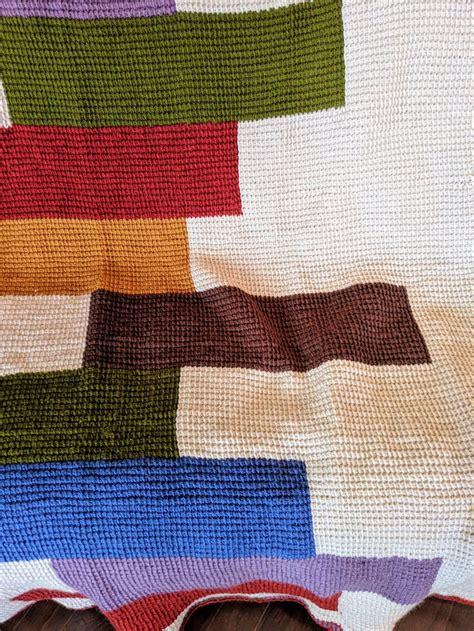 stacked blocks quilt afghan crochet pattern