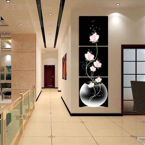 3 Panel Free Shipping Hot Sell Beautiful Pink Flower