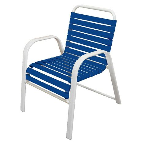 patio dining chair vinyl frame powder coated rust proof