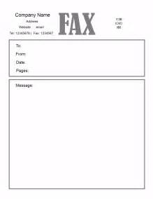 Word Fax Cover Letter Free Fax Cover Letter Template