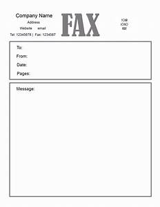 Free fax cover letter template for Fax cover letter