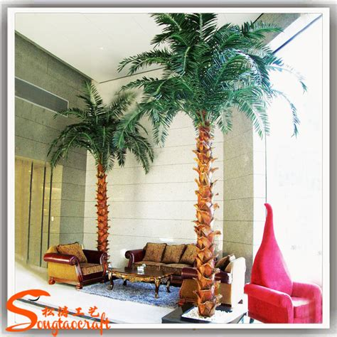 high quality artificial plastic fake palm trees leaves