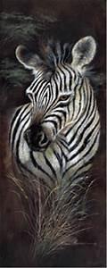 12x36 Zebra, Striped Innocence, Artist Ruane Manning