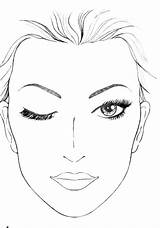 Template Makeup Face Coloring Blank sketch template
