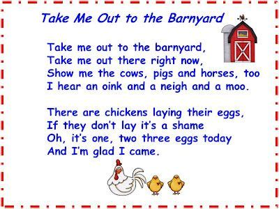 song quot take me out to the barnyard quot free farm 373 | 4ecd82eaa1ab5841a54f9a63454c7b79