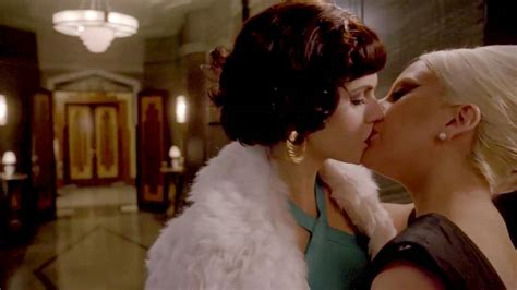 alexandra daddario and lady gaga lesbian kiss in american horror story scandal planet