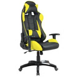 siege baquet basculant fauteuil de bureau baquet racing noir et jaune waytex fr