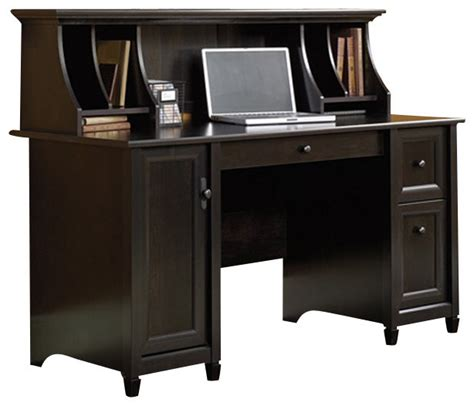 black writing desk with hutch sauder edge water computer desk and hutch set in estate