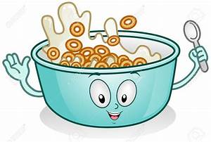 Cereal clipart cartoon - Pencil and in color cereal ...