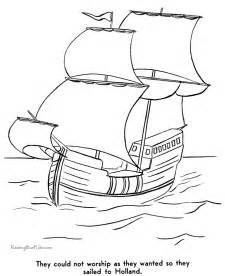 history of the pilgrims coloring pages 002
