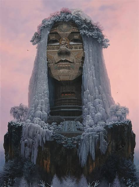 chinese artist depicts rockstars  ancient architectural