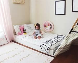 Lit Enfant Sol : 24 mod les de lit au ras du sol pour la chambre coucher des id es ~ Nature-et-papiers.com Idées de Décoration
