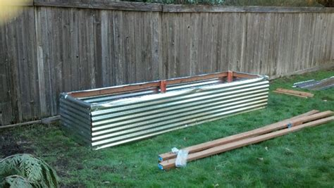 Corrugated Metal Garden Beds by Corrugated Metal Raised Bed Garden Yard