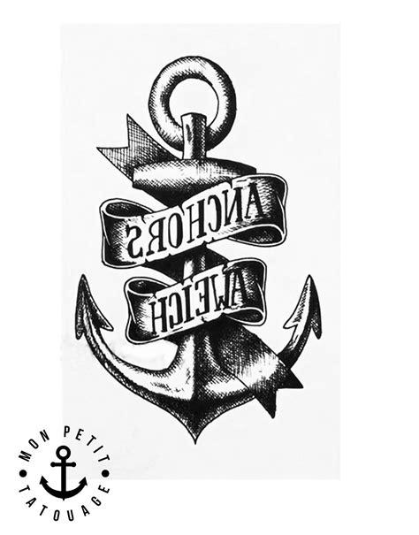 Signification Dessin Bateau by Tatouage Ancre Marine Temporaire 201 Ph 233 M 232 Re Cheville