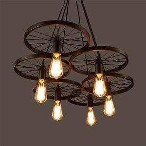Aliexpress buy wrought iron wheel pendant light