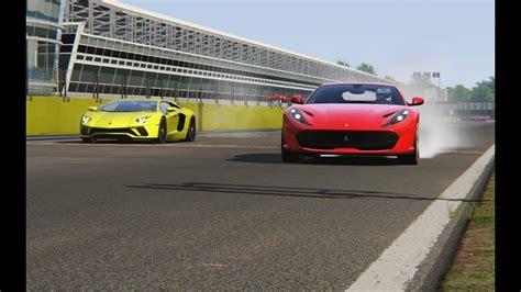 A few races between the ferrari 812sf (superfast) and the lamborghini aventador s in switzerland. Lamborghini Aventador S vs Ferrari 812 Superfast at Monza Circuit | Ferrari, Lamborghini ...