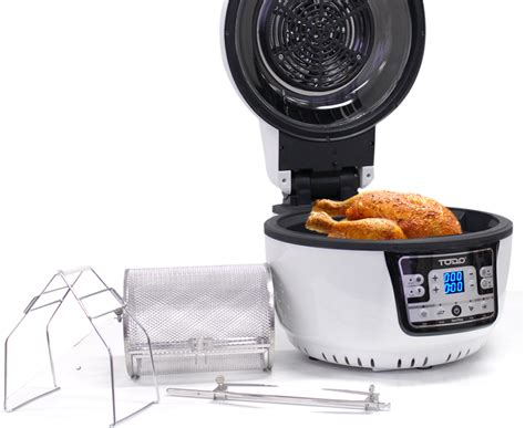 air fryer convection oven digital 1400w todo cooker multi rotisserie fryers 10l control deep
