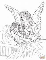 Coloring Angel Pages Adults Popular sketch template