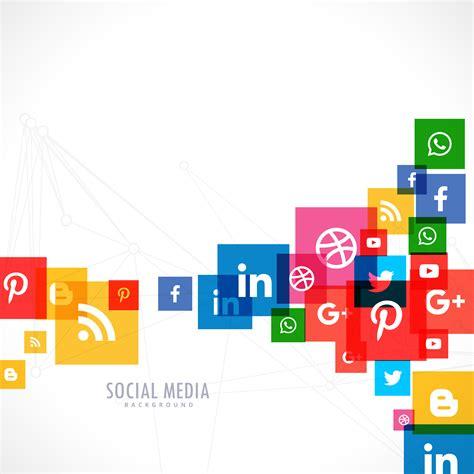 Social Media Background Social Media Icons Background Free Vector