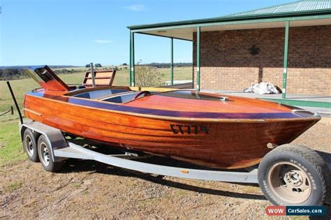 Vintage Ski Boats For Sale Australia by Hammond 1960 Timber Ski Boat V8 351 Easytow