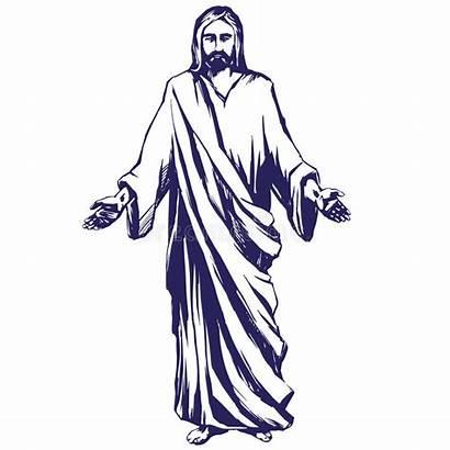 Jesus Christ God Vector Symbol Hand Illustration