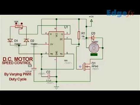 Motor Speed Controller Circuit Using Pwm Electrical