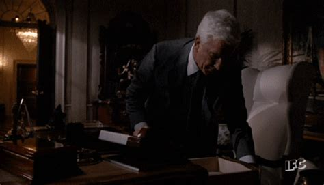 leslie nielsen explosion gif naked gun lol gif by ifc find share on giphy