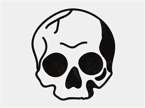 simple blackwork skull   simple skull tattoos