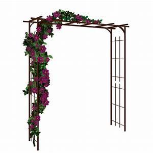 Arche Metal Pour Plante Grimpante : pergola de jardin double droite en acier par jardin et saisons ~ Premium-room.com Idées de Décoration
