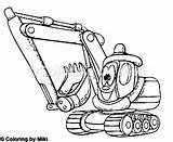 Shovel Cartoon Loading Coloring sketch template