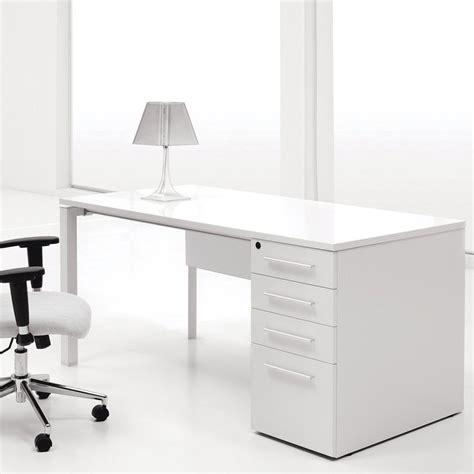 white lacquer desk jesper single pedestal computer desk white lacquer at