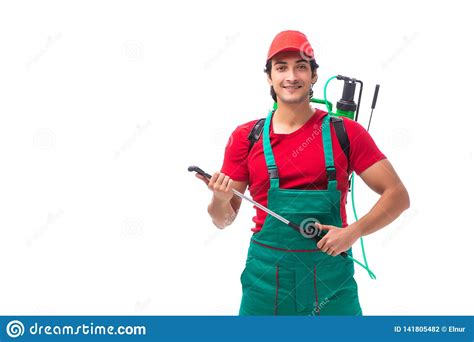 pest control contractor isolated  white background