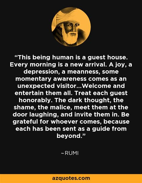 rumi quote   human   guest house