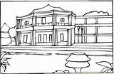 Coloring Hotel France Coloringpages101 Houses Designlooter 44kb 424px sketch template